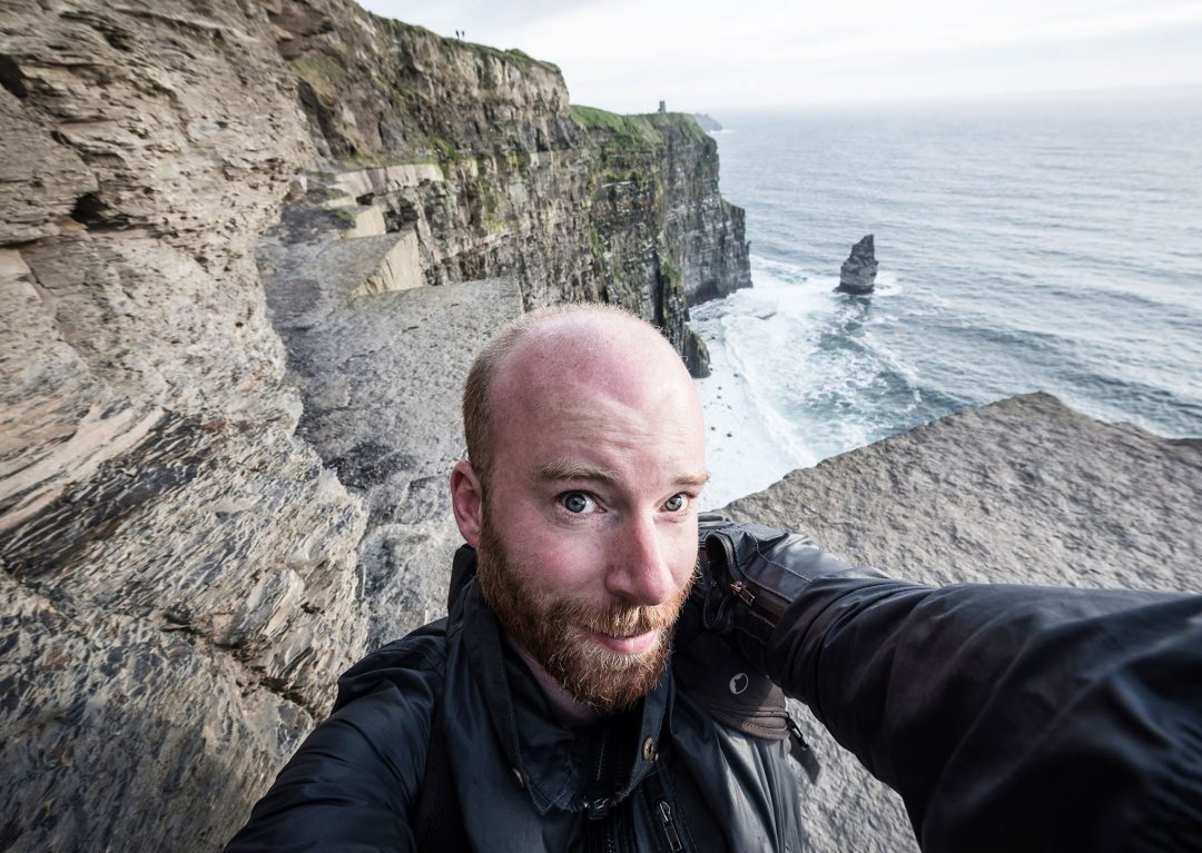 Jonathan Ramael on the Cliffs of Moher in Ireland