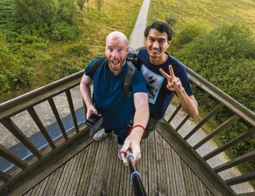 Wat te doen in Spa: selfies maken op het uitkijkpunt in de Hoge Venen